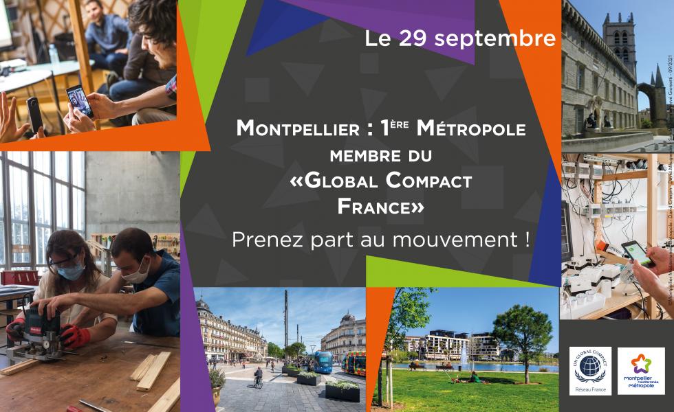 ✿ Montpellier : 1ère Métropole membre du Global Compact France : prenez part au mouvement !