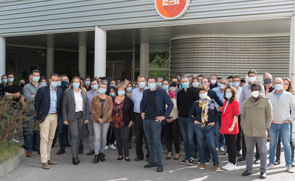 Photo de toute l'équipe du groupe ESII