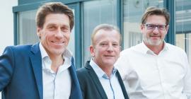 Hugues Galambrun, Philippe Rivière, Jean-Luc Boixel, dirigeants de Septeo@DR